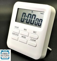 LCD Digital Large Kitchen Cooking Timer Count Down Up Clock Loud Alarm Magnetic $6.89