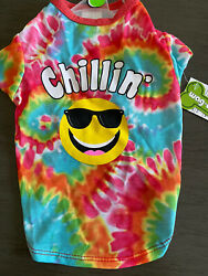 WAG A TUDE Tie Dyed quot;CHILLIN#x27;quot; T Shirt Puppy Dog small NWT $14.50