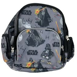 Pottery Barn Kids Star Wars Small Backpack All Over Pattern Pre K Gray $10.95