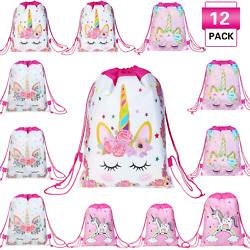 Magigift Unicorn Party Favors Bags Drawstring Gifts Bags for Kids Party Decorati $20.28