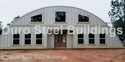 DuroSPAN Steel 55x26x19 Metal Quonset DIY Home Building Kits Open Ends DiRECT $9989.00