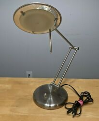 ✰Tensor LT627 Dimming Electric Desk Lamp with Adjustable Arm Brushed Chrome✰ $44.99