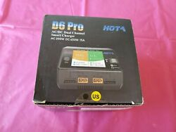 HOTA D6 Pro AC DC DUAL Smart Charger 650W 15A Wireless Charging Rc Drone Plane $125.99