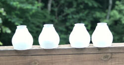 Set of 4 Vntg 70's Style Frosted Glass Globes Ceiling Fan Shades 5x4quot; $15.99