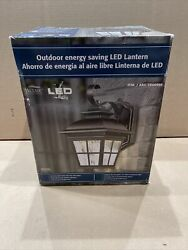Altair Lighting LED Outdoor Lamtern Al 2165 Brushed Patina Automatic Dusk Dawn $59.99