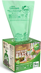100 Count Compost Bags Small Home Kitchen Trash Bag Biodegradable Waste Storage $15.99