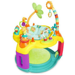 Bright Starts Safari Bounce 12 Activity Baby Toy Center Bouncer Chair Open Box $50.99