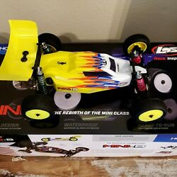 Losi LOS01016T3 1 16 Upgraded RC Mini B Brushed 2WD Buggy Yellow White RTR $179.99