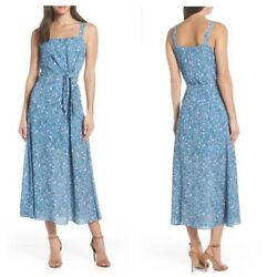 Chelsea28 Dress Blue Floral Maxi Small $19.99