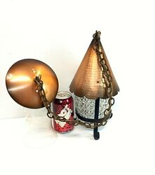 Vintage Emerson Electric Hanging Light Fixture Copper o Aluminum hall lamp $33.96