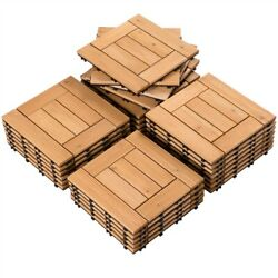 27pcs Fir Wooden Floor Tiles Patio Pavers Composite Decking for Outdoor Used $72.99