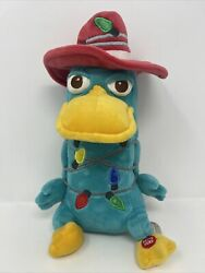 Disney Christmas Phineas amp; Ferb Perry Platypus 13quot; Plush NO LIGHTS W Tags $21.95