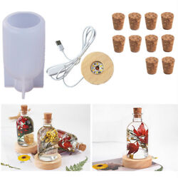 DIY Night Light Resin Casting Silicone Mold Bottle LED Lamps Holder Stand Epoxy $6.64
