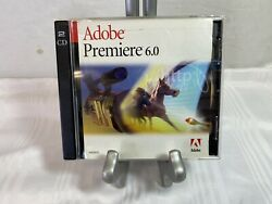 Genuine Adobe Premiere 6.0 for Microsoft Windows With Serial Number 2 Discs $29.95