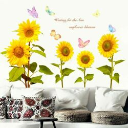 Wall Butterfly Sunflower Nursery Kids Removable Wall Stickers Home Decoration C $13.14