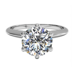 Ritani 1ZR7295 14K White Solitaire Engagement Ring Mounting Size 7 $294.00