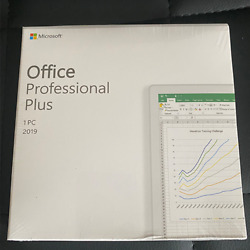 Microsoft Office 2019 Professional Plus For Windows PC Retail Sealed Authentic $70.00