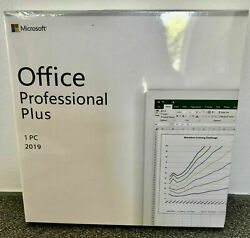 Microsoft Office 2019 Professional Plus For Windows PC Retail New Authentic DVD $68.25
