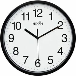 Large Wall Clock Silent Indoor Outdoor Battery Powered Analog Office Home School $14.84