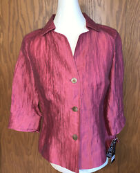JONES NEW YORK COLLECTION Top Womens Size 4 XS Freesia Blouse $129 MSRP NWT $8.95