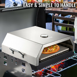 Stainless Steel Pizza Oven 15.7quot;x13.7quot;x6.2quot; Kitchen Charcoal Wood or Gas Grill $114.99