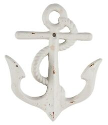 Ships Anchor With Rope Wall Hook Painted Distressed Cast Iron $9.88