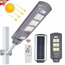 900000LM Commercial Solar Street Light 624 LED Outdoor Dusk to Dawn Road Lamp