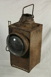 British Southern Railway BR S Welch Patent Square Oil Signal Lamp Lantern GBP 94.95