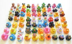 24 NEW ASSORTED RUBBER DUCKS MINI FLOATING DUCKIES KIDS TOY PRIZE 2quot; SIZE DUCK $17.75