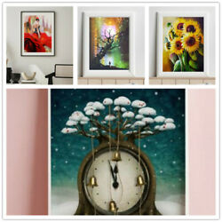 Absurd Art Decor Mural Abstract Wall Paintings Tree Clock Flower Print Pictures $8.99