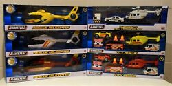 TEAMSTERZ DIECAST PLASTIC TOY HELICOPTER EMERGENCY TRANSPORTER SET Or WITH SOUND $12.82