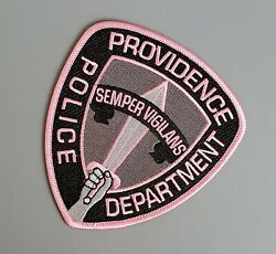 Providence Rhode Island Pink Police Patch Breast Cancer Awareness RI $22.49
