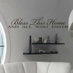 Bless This Home Wall Sticker Living Room Bedroom For Home Decoration Wall Decals $10.14