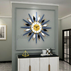 3D Sunburst Large Wall Clock Modern 25quot; Oversized Colorful Wall Watch Home Decor $58.69