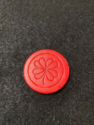 Red Antique Clover Poker Chip Vintage Rare Old Gambling Four Leaf 4 Lucky $1.79