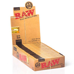 😎 🍃 24 RAW NATURAL UNREFINED VEGAN ORGANIC ROLLING PAPERS 1 1 4 SIZE SEALED $18.99