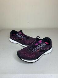 Brooks Ghost 12 Womens Running Shoes Black Hollyhock Pink Color Way Size 8.5 $39.99