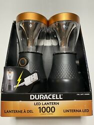 Duracell Led Lanterns 1000 Lumens USB Connection 2 Pack $30.00