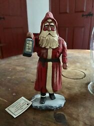 Whimsical Whittler: quot;Red Lantern Santaquot; 1999 $495.00