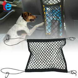 Car Dog Pet Barrier Guard Back Seat Mesh Net 13.98quot; × 15.55#x27;#x27; For SUV Truck $10.69