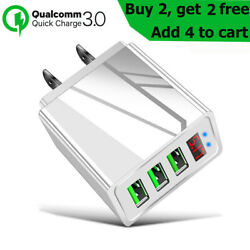 3 Port USB Home Wall Fast Quick Charger for Cell Phone Samsung iPhone Android $6.65