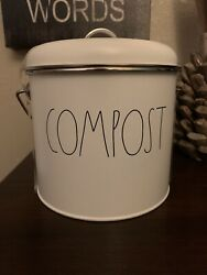 Rae Dunn Compost Pail Farmhouse Bucket Recycle Farm Country Chickens Pigs Scrap $36.98