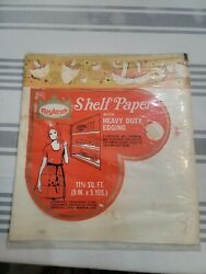 VINTAGE MUSHROOM SHELF PAPER With Heavy Duty EDGING ROYAL CRAFT New Old Stock $12.99