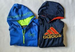 Under Armour Cold Gear and Adidas Youth Boys M 10 12 Hoodie Sweatshirt Lot $19.99