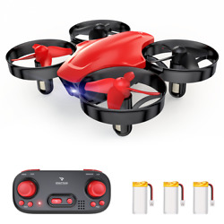 SNAPTAIN RC Drone Mini Quadcopter Altitude Hold 2.4Ghz 360° Flips for Kids Red $15.99