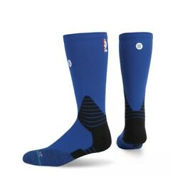Stance NBA On Court Solid Men Blue Crew Socks Fusion Basketball Size 9 12 L New $17.20