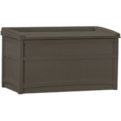 Suncast 50 Gallon Outdoor Resin Deck Storage Box with Seat Java Brown NEW $78.99
