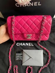 Chanel Classic Flap Quilted Lambskin Rectangular Mini Pink $4899.00