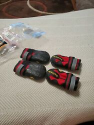 My Busy Dog Waterproof amp; Non Slip Dog Shoes Size 4 Black amp; Red $10.00