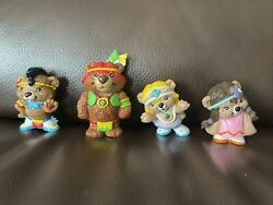 4 Vintage Paw Paws Bears Hanna Barbera PVC Figures Indians Native American $50.00